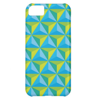 green blue geometric illusion cover for iPhone 5C