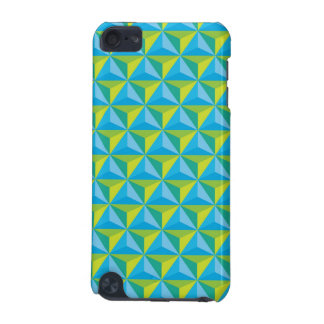 green blue geometric illusion iPod touch (5th generation) case
