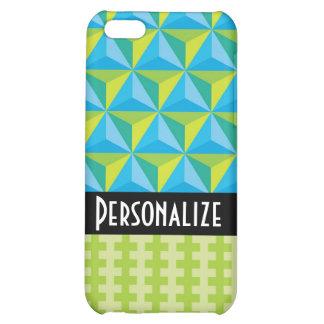 green blue geometric illusion iPhone 5C cases