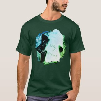 Green Blue Ghostly Impression Ceiling Ghost T-Shirt