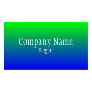 Green Blue Gradient Business Card Template