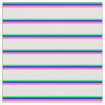 [ Thumbnail: Green, Blue, Hot Pink, and White Colored Lines Fabric ]