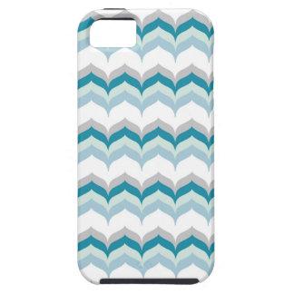 Green & Blue Hues Chevron Pattern iPhone SE/5/5s Case