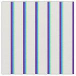 [ Thumbnail: Green, Blue, Indigo & Light Cyan Pattern Fabric ]