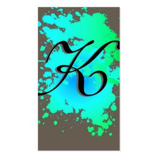 Green Blue Ink Paint Splash Business Card