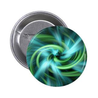 Green blue lights abstract art pinback button
