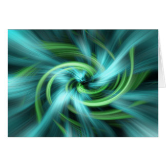 Green blue lights abstract art greeting cards