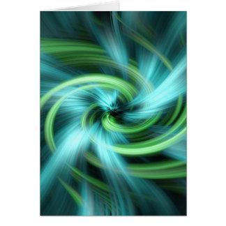 Green blue lights abstract art card