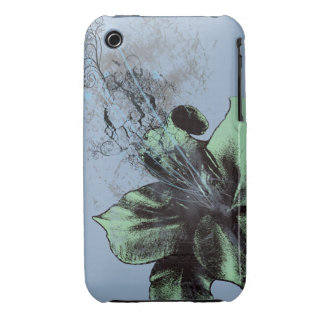 Green/Blue Lily iPhone 3 Case