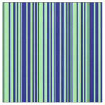[ Thumbnail: Green & Blue Lined/Striped Pattern Fabric ]