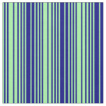 [ Thumbnail: Green & Blue Lines Fabric ]