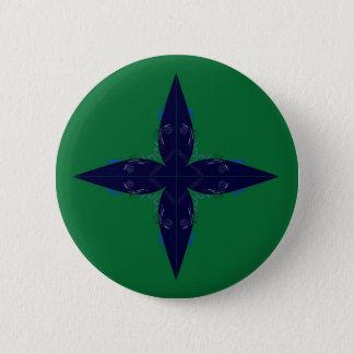 Green blue mandala Orient Pinback Button