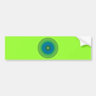 Green Blue Mandalla Bumper Sticker