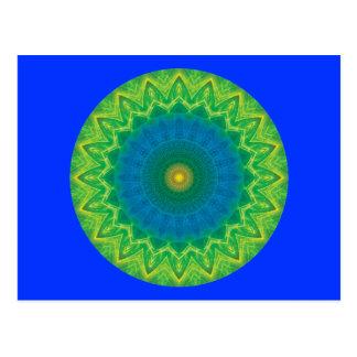 Green Blue Mandalla Postcard