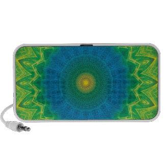 Green Blue Mandalla Portable Speaker