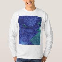 Green blue modern abstract art T-Shirt