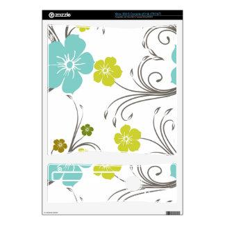 Green & Blue Modern Flower Design Xbox 360 S Console Decal