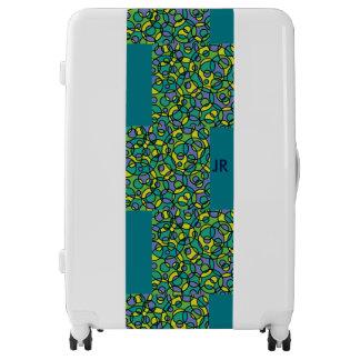 Green & blue monogram luggage trolley