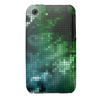 Green & Blue Mosaic Case-Mate iPhone 3 Case