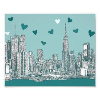 Green-blue NYC valentine Photograph