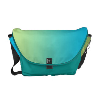 Green & Blue Ombre Courier Bag