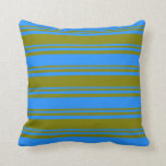 [ Thumbnail: Green & Blue Pattern Throw Pillow ]
