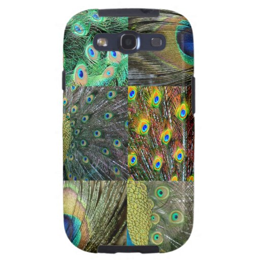 Green Blue Peacock photo collage Galaxy S3 Cover