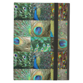 Green Blue Peacock photo collage iPad Air Cases