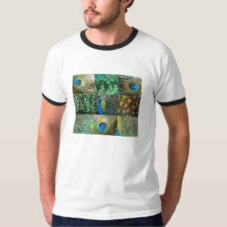 Green Blue Peacock photo collage T-Shirt