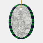 green blue  photoframe christmas ornament