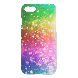 Green Blue & Pink Bokeh Modern Glitter iPhone 7 Case