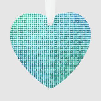 Green blue pixel mosaic