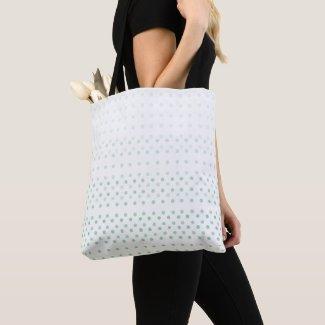 Green Blue Poka Dots Tote Bag