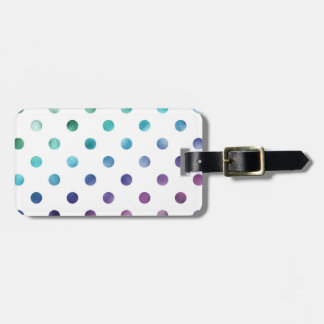 Green Blue Purple Rainbow Metallic Faux Foil Luggage Tag