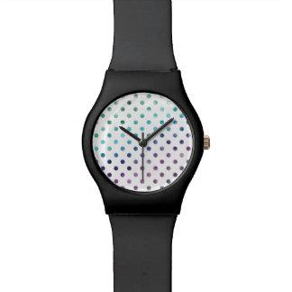 Green Blue Purple Rainbow Metallic Faux Foil Wrist Watches