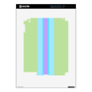 Green, Blue, Purple Striped Decals For The iPad 2