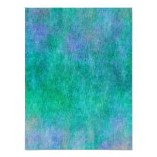 Green Blue Purple Watercolor Background Photo Print