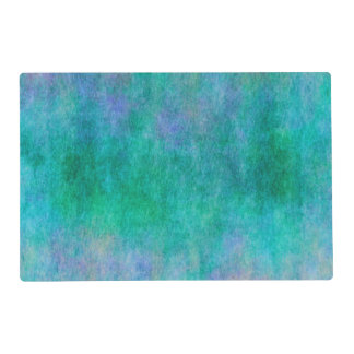 Green Blue Purple Watercolor Background Placemat