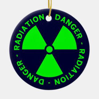 Green & Blue Radiation Symbol Ornament