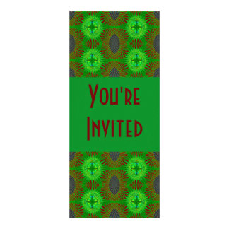 green blue red abstract invitation