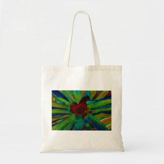 Green Blue Red Bromeliad Plant Image Budget Tote Bag