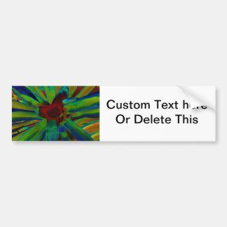 Green Blue Red Bromeliad Plant Image Bumper Sticker