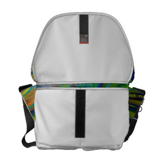 Green Blue Red Bromeliad Plant Image Courier Bag