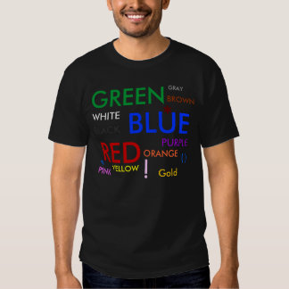 GREEN, BLUE, RED, GRAY, WHITE, PURPLE, BLACK, P... T SHIRT