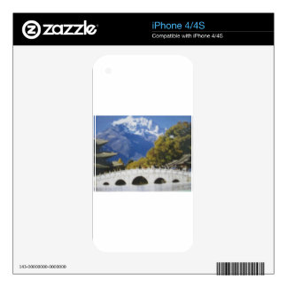 Green Blue scenery Decal For iPhone 4