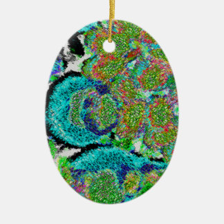 Green-blue Sensation. Ceramic Ornament