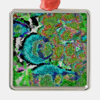 Green-blue Sensation. Metal Ornament