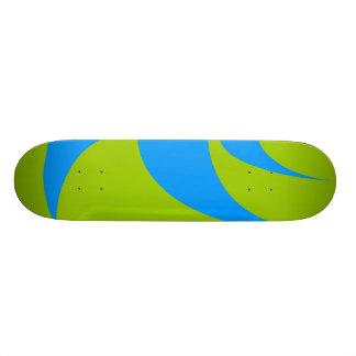 green/blue skateboard