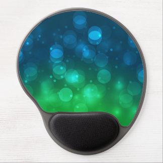 Green & Blue Sparkles Light Design Gel Mouse Pad