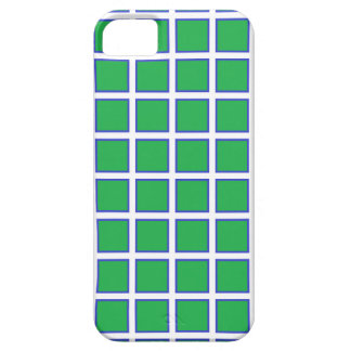 Green Blue Squares iPhone SE/5/5s Case